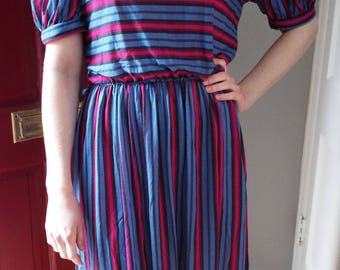 Vintage Short Sleeve Striped Dress by Byer Too