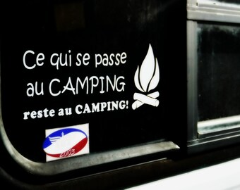 vinyle camping sticker car fifthweel