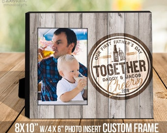 Father's Day gift   dad baby first fathers Day cheers   best buds drinking buddies fathers day photo frame   fathers day gift  MDF1-105