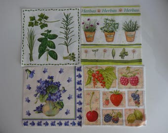 plants 4 themed paper napkins