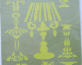 Santa Claus soft plastic STENCILS - lamps.  REF. 94607