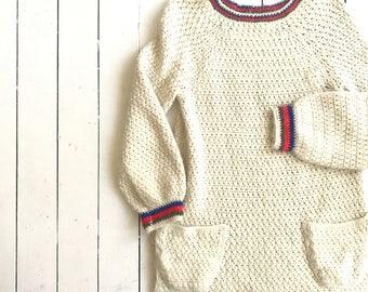 70's ski sweater   vintage cream sweater   1970's cozy sweater