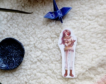 Get Cosy   Winter Girl Sticker Single
