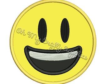 Smiling Face Applique Design