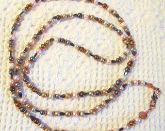 Copper, loads of Copper, Garnet and Pearls