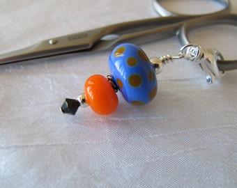 Purple and Orange Scissor Fob