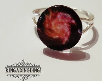 Gorgeous Red Vortex/Nebula Ring - FREE GIFT WRAPPING