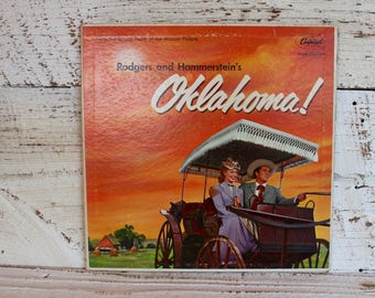 Vintage Soundtrack Oklahoma Musical Movie 50s Era Vinyl Record Music Recording Gift for Music Lovers Gifts for Her for Girlfriend Wife Him