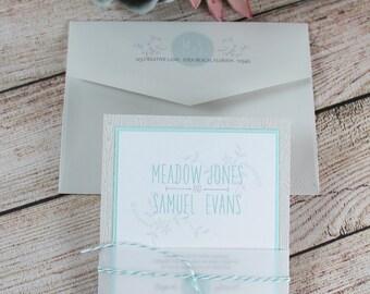 Wedding Invitations, Rustic Wedding, Wood Paper Invitations, Rustic Invitations, Invitations