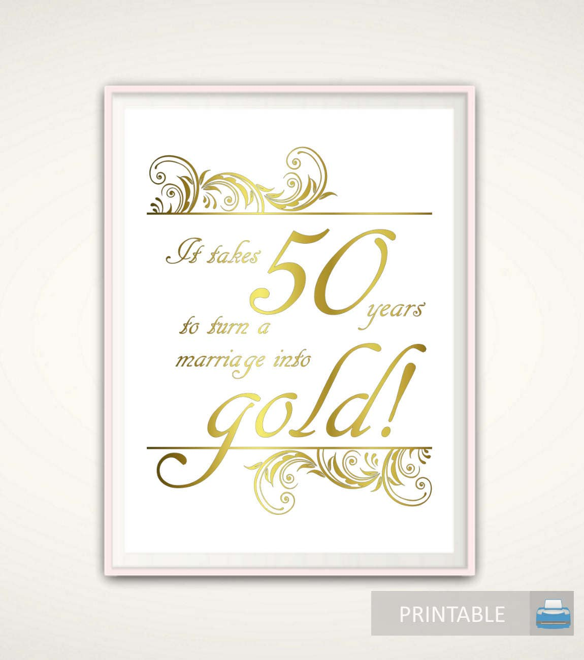 Gift For Wedding Anniversary Of Parents: 50th Anniversary Gifts For Parents 50th Anniversary Print