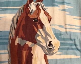 Purebread II by Erin Michael for Moda Fabrics Large Horse Block Print in Sky