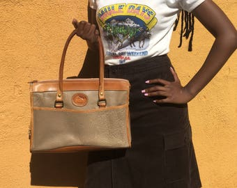 Dooney and Bourke All Weather Leather  British Tan Satchel