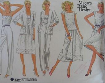 Vogue Basic Design Wardrobe Pattern 2687