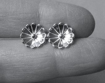 Flower Earrings Sterling Silver Blossom Post Earrings Sterling Silver Stud Earrings Flower Studs