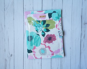 JW Ministry Organizer/Meeting Folder/JW Gifts/Pioneer Gift/Magazine and tract Holder/Teal and pink floral Organizer/JW Field Service Folder