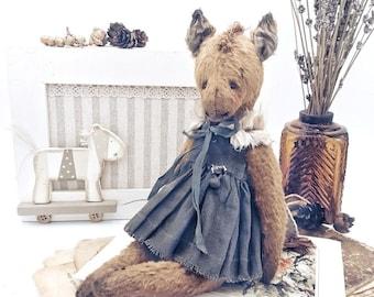 SOLD  Teddy Horse, OOAK, Artist Teddy bear, vintage style horse,OOAK Teddy bear, Old style horse, Soft toy, Stuffed horse, Artist horse