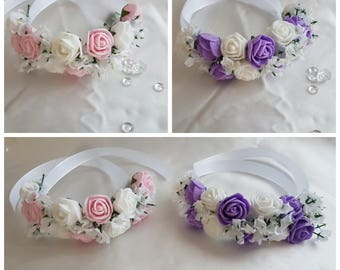 Wedding accessories, flower bracelet for the flower girl or bridesmaid