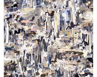 """Titled: """"Drunken Knife n.1"""" by Contemporary & Abstract Artist, David F. Katz/UPTOWNLOCAL"""