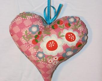 Heart tart vintage fabric