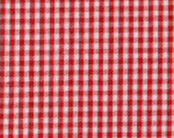 """Featured listing image: Gingham/ Red Gingham / Small Gingham / 1/16 Gingham  / by Fabric Finders 60"""" wide"""