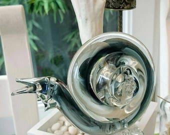 Rare Murano glass snail figurine | snail glass paperweight | vintage Murano glass snail UK