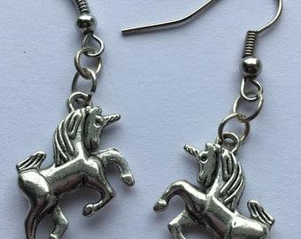 Unicorn Earrings Silver