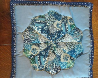 Blue Quilted Pot Holder