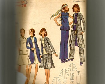 Butterick Misses' Top, Skirt, Pants, and Jacket Pattern 6077
