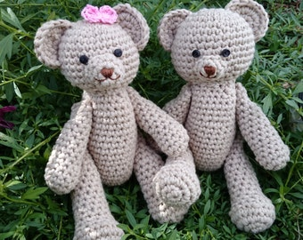Benny Bear The Classic Teddy Crochet Pattern Amigurumi Photography prop