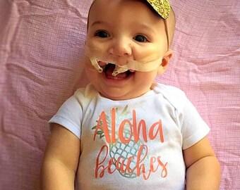 Aloha Beaches Baby Onesies® brand by Gerber® // Beach Onesie // Hawaii Onesie