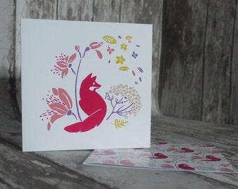 Lot 2 cards greeting liberty Fox