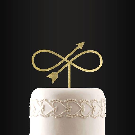 Wedding Cake Topper Infinity Arrow Custom Cake Topper