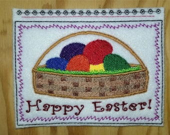 Embroidery Greeting Cards by DiElobi – Easter #1