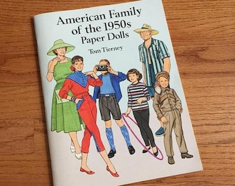 SALE Vintage 1994 American Family of the 1950s Paper Dolls Tom Tierney UNCUT VGC / Collectible Ephemera Toy