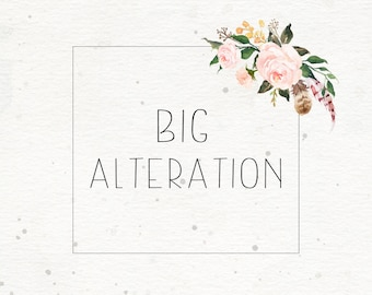 Big alteration on prints, invitations or logos