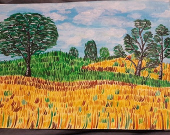 The wheat fields, Burgundy