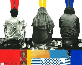 Print of Primary Color Collage