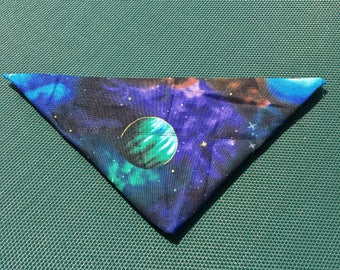 Outer Space Dog Bandana, Pet Bandana with Planets and Stars