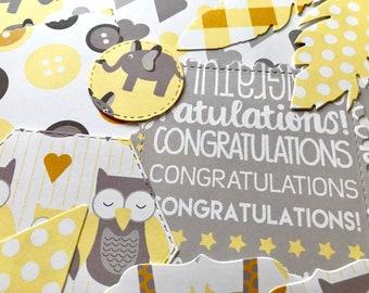 Baby scrapbook kit, baby junk journal, scrapbook handmade, baby boy embellishments, baby girl embellishments