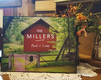 SALE Personalized Wedding Gift, christmas gift, housewarming, Rustic wedding gift, farm wedding gift, gift for couple, family gift