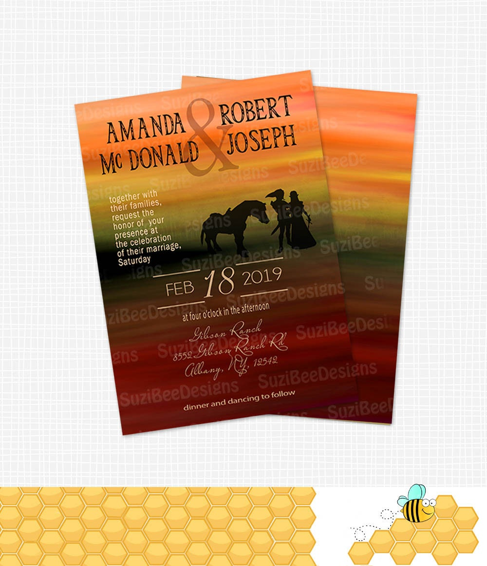 Legend of Zelda Silhouette Wedding Invitation Save the Date