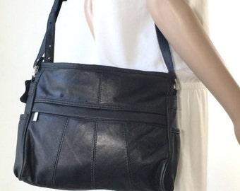 Black Leather Purse, Bag, Shoulder Bag