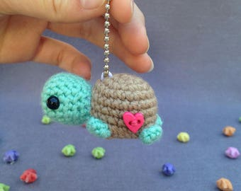 Turtle keychain- Crochet turtle, turtle amigurumi, cute keychain, crochet keychain, gift ideas, gifts for friends