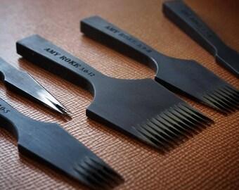 Leathermob Amy Roke Pricking Iron for Leathercraft, Saddle Stitch, sewing, Stitching Chisel leather craft tool
