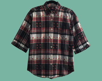 """Camisa 21 de la serie """"Androgynous"""" vintage unisex oversize 90s"""