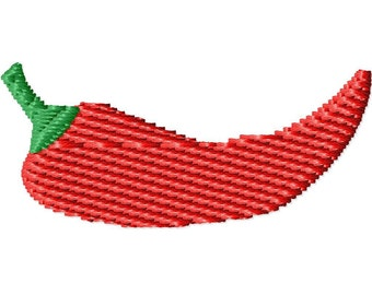 Chili Pepper Mini Machine Embroidery Design