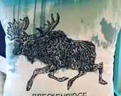"Pillow 14"" : ""Moose on the loose"" Brecke..."