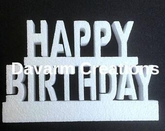 Happy Birthday,Happy Birthday Cutouts,Party centerpiece,Happy Birthday Cake Topper,Happy Birthday Decorations,happy birthday to you, happy