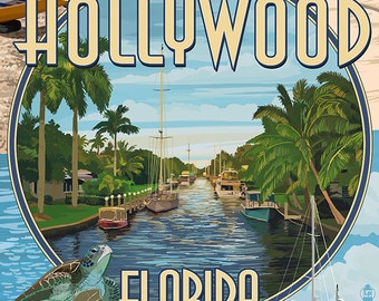 Hollywood, Florida - Montage (Art Prints available in multiple sizes)