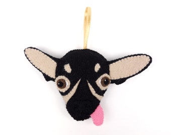 Felt Dog Ornament - Mexican Hairless Dog / Xolo